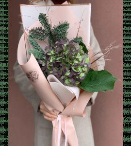 Букет 'Зимняя гортензия' – Интернет-магазин цветов STUDIO Flores