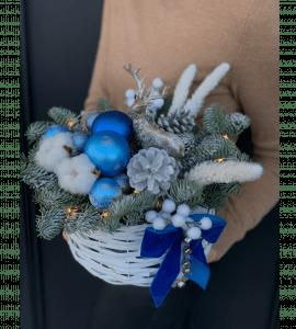"""Новогодняя композиция """"Полярная ночь"""" – Интернет-магазин цветов STUDIO Flores"""