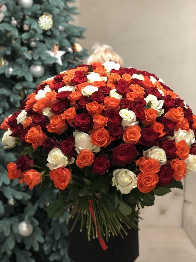 Букет 151 роза – Интернет-магазин цветов STUDIO Flores