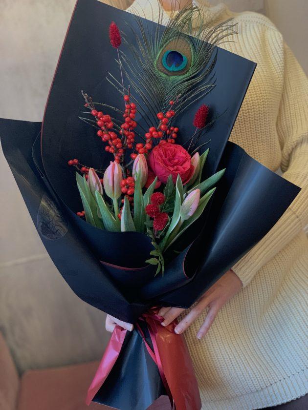 Букет 'Перо Жар Птицы' – Интернет-магазин цветов STUDIO Flores