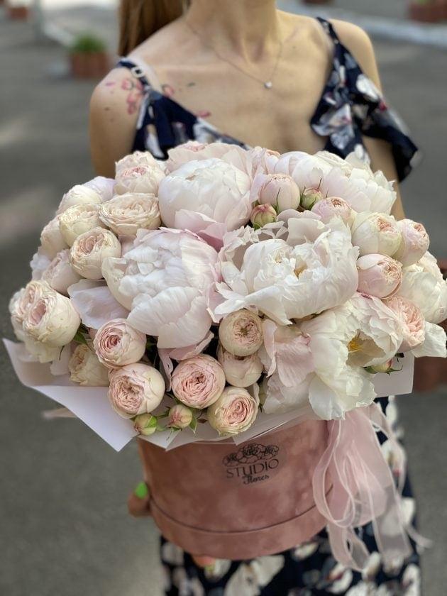 Букет пионов 'Эльза' – Интернет-магазин цветов STUDIO Flores