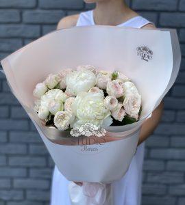Букет 'Сливочное безе' – Интернет-магазин цветов STUDIO Flores