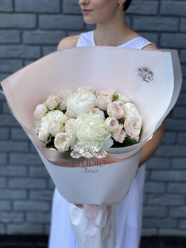 Букет 'Вершкове безе' – Інтернет-магазин квітів STUDIO Flores