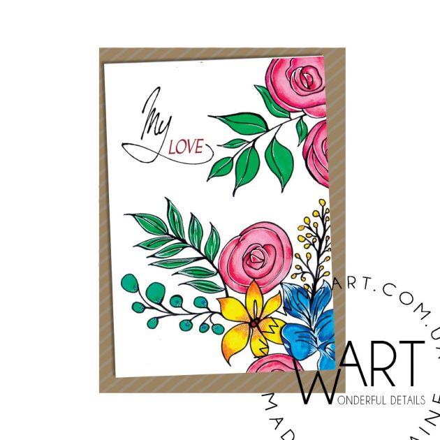 Открытка с конвертом 20 – Интернет-магазин цветов STUDIO Flores