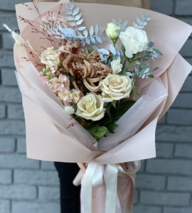 Buy a bouquet with chrysanthemum
