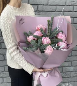 Букет 'Засніжені піони' – Інтернет-магазин квітів STUDIO Flores