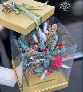 Букет 'Золота клітка' – Інтернет-магазин квітів STUDIO Flores