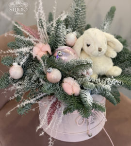 Gift set 'New Year's Bunny' – Flower shop STUDIO Flores
