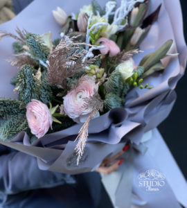 Bouquet 'Mont Blanc' – Flower shop STUDIO Flores