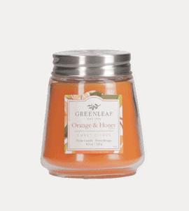 Miniature candle 'Orange and honey' – Flower shop STUDIO Flores